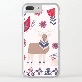 Scandinavian Winter Pattern Beige #society6 #buyart Clear iPhone Case