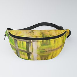 Weeping willow watercolor painting #3 Fanny Pack