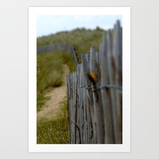 Normandy Fence Art Print