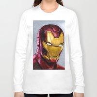 ironman Long Sleeve T-shirts featuring IronMan by Morales