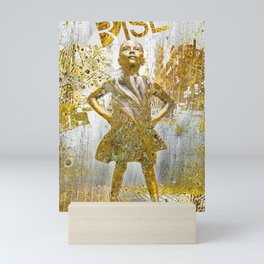 Rise Fearless Girl Future Is Female Mini Art Print