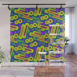 Dichroic Psychedelic Fused Glass Wall Mural