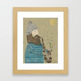 afternoon blues Framed Art Print