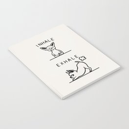 Inhale Exhale Chihuahua Notebook