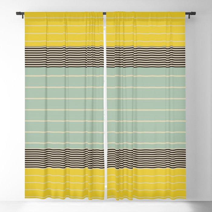 Stripe Pattern VI Blackout Curtain