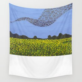 The Meadow and the Swarm Wall Tapestry