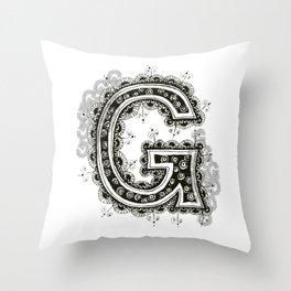 Color Me G Throw Pillow