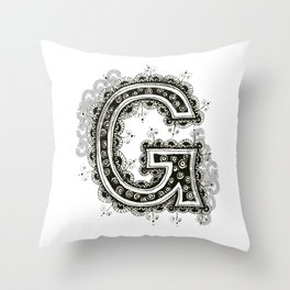 Color Me G Throw Pillow