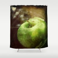 apple Shower Curtains featuring Apple  by Bella Blue Photography