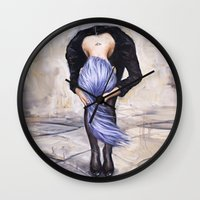 returns Wall Clocks featuring Saturn Returns by Artist Andrea