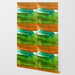 Encaustic Abstract No.27M by Kathy Morton Stanion Wallpaper