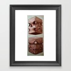 Meat Cubes Framed Art Print