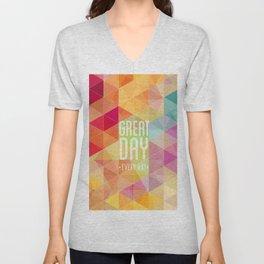 Geometric Colors Unisex V-Neck