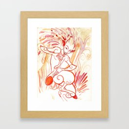 Pied pipers: The Fire Boy Framed Art Print