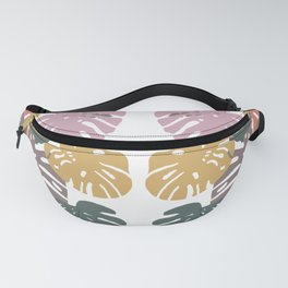 Multicolor Swiss Cheese Plant Leaves Fanny Pack