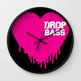 Drop Bass Heart Wall Clock