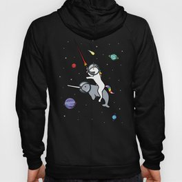 Unicorn Riding Narwhal In Space Hoody