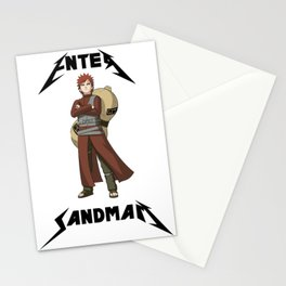 Enter Sandman Shinobi  Stationery Cards