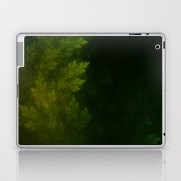 Beautiful Fractal Pines in the Misty Spring Night Laptop & iPad Skin