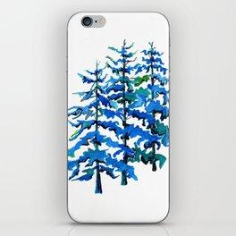 Blue Pine Trees iPhone Skin