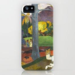 Mata Mua by Paul Gauguin iPhone Case