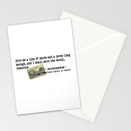 Archimedes Walks Into A Bar #2 Stationery Cards