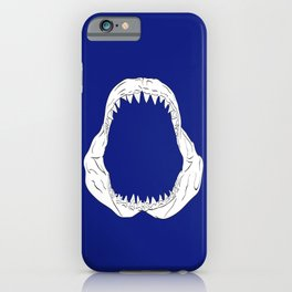 White Shark Jaw iPhone Case