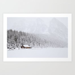 blinded by the white // lake louise Art Print