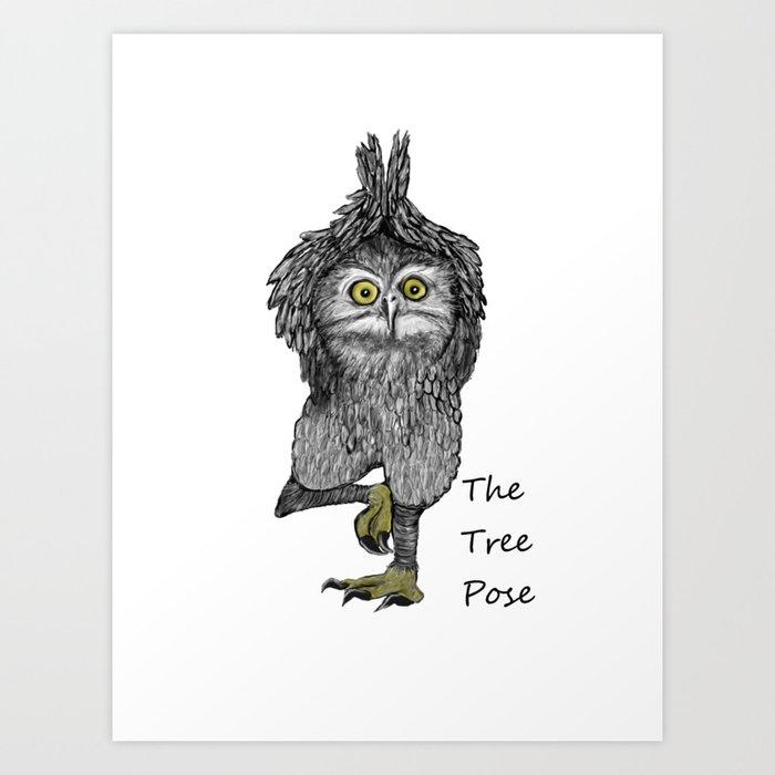 the tree pose Art Print