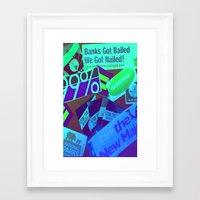 stickers Framed Art Prints featuring Bumper Stickers by Ellen Turner