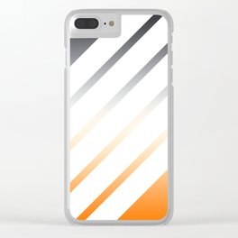 White Striped Gradient Clear iPhone Case