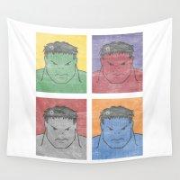 hulk Wall Tapestries featuring Pop Hulk by Li.Ro.Vi