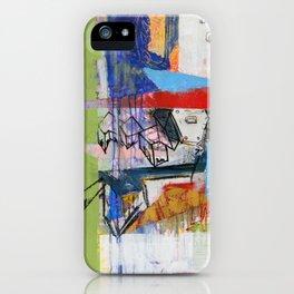 Abstract Mixed Media Compositon V.Threeve iPhone Case