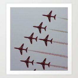 Royal Air Force Fighter Planes In Formation Art Print