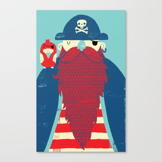 Old Captain Redbeard Canvas Print