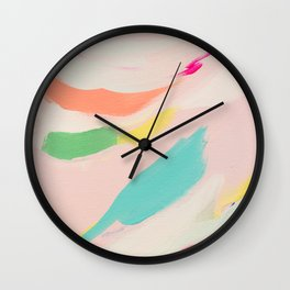Wild Ones #3 - abstract painting Wall Clock