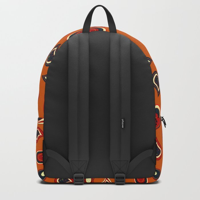 Orange paisley Backpack