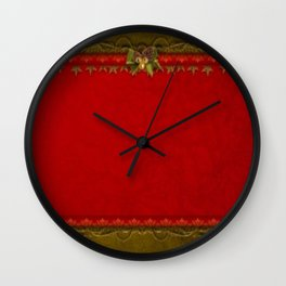 Christmas Deco Wall Clock
