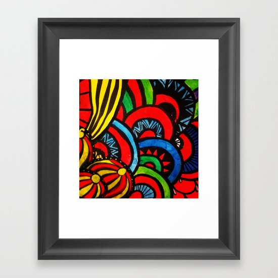 Vibrations Framed Art Print