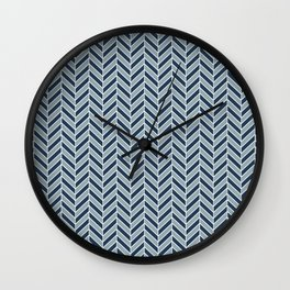 LunaSol organic pattern blue 001 Wall Clock