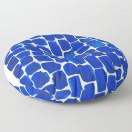 Brick Stroke Blue Floor Pillow