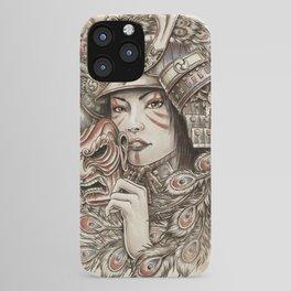 Peacock Samurai iPhone Case