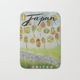Japan, United - Vintage Poster Bath Mat