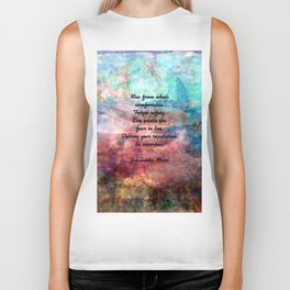 Challenging Fear Rumi Uplifting Quote With Beautiful Underwater Painting Biker Tank