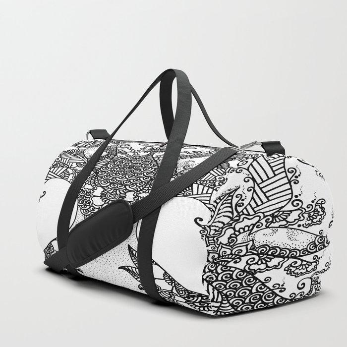 Unity of Halves - Life Tree - Rebirth - White Duffle Bag