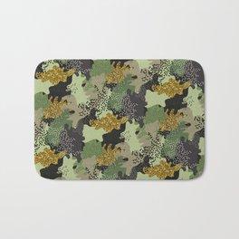 Modern Military Army Camouflage Pattern Bath Mat