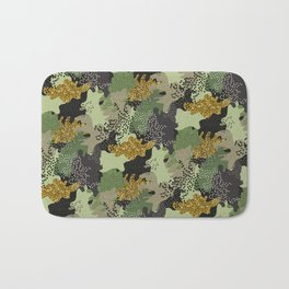 Modern Military Army Camouflage Pattern Bath Mat