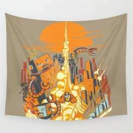 Smash! Zap!! Zooom!! - Butt-Chinned Captain Wall Tapestry