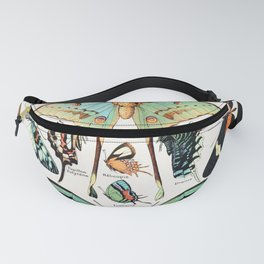 Adolphe Millot - Papillons pour tous - French vintage poster Fanny Pack