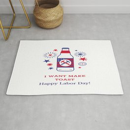 TOAST TO ALL AMERICAN WORKERS Rug